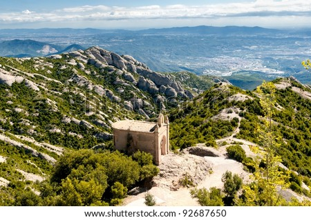 Saint Joan hermitage in Montserrat Mountain, Spain