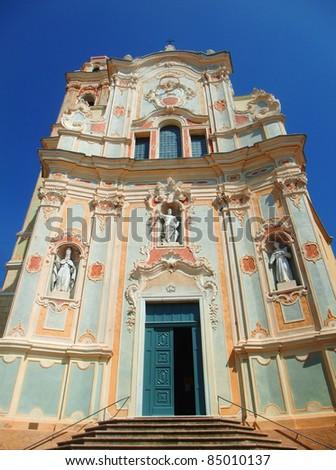 Saint John facade, Cervo, Liguria, Italy