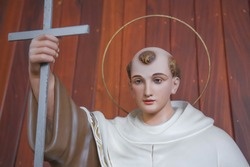 Saint John of Cross carmelite  catholic statue