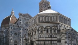 Saint John's Baptistery, belonging to the Cathedral of Florence complex (Cattedrale di Santa Maria del Fiore), in Florence, Italy