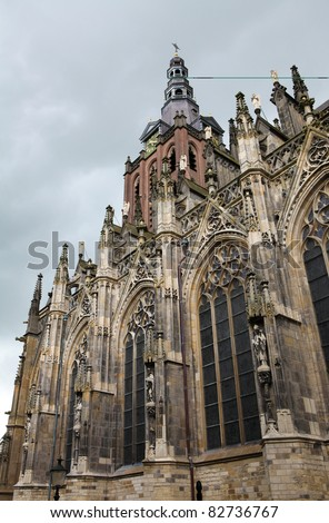 Saint Johns cathedral of 's-Hertogenbosch in the Netherlands, Nort Brabant province.