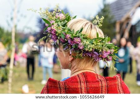 Saint Jonas' or Dew Holiday Festival (Rasos svente, Jonines, Midsummer Day or Saint John's Day) is a midsummer folk festival celebrated on June 24 all around Lithuania. Vilnius, 23 june 2017.