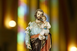 Saint Joseph and baby Jesus of the Catholic Church - Sao Jose - Menino Jesus - St Joseph