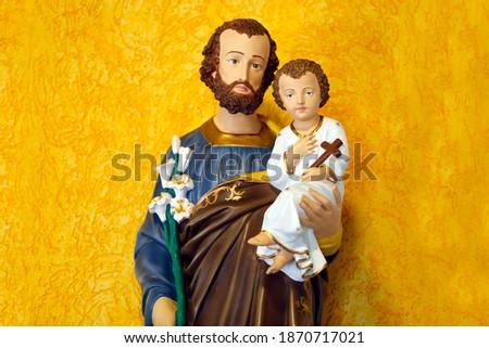 Saint Joseph and baby Jesus of the Catholic Church - Sao Jose - Menino Jesus - St Joseph Photo stock ©