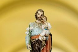 Saint Joseph and child Jesus of the Catholic Church - Sao Jose - Menino Jesus - St Joseph