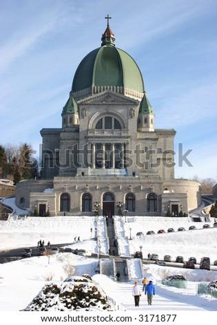 Saint Joseph Oratory in winter, Montreal, Canada