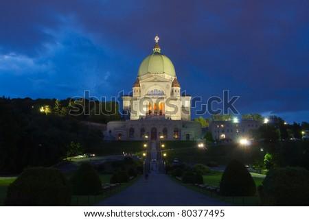Saint Joseph's Oratory in Montreal at night # 1