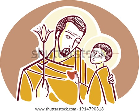 Saint Joseph, the adopted father of Jesus Photo stock ©