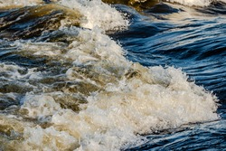 Saint-Lawrence river, Lachine Rapids in LaSalle, Montreal Quebec, Canada