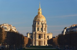 Saint-Louis-des-Invalides Church houses the graves of the governors of the Invalides, and also many Marshals of France and commanding officers' graves, Paris, France.
