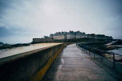 Saint Malo in France. Long exposure at day light