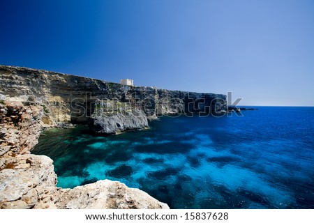 Saint Mary's bay at Comino island, malta