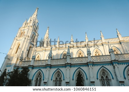 Saint Mary's Catholic Cathedral church exterior architecture in Madurai #1060846151