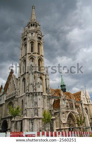 Saint Matyash temple, Hungary, Budapest; Autumn