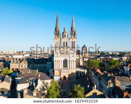 Saint Maurice Cathedral of Angers is the seat of the Roman Catholic Diocese of Angers in France Photo stock ©
