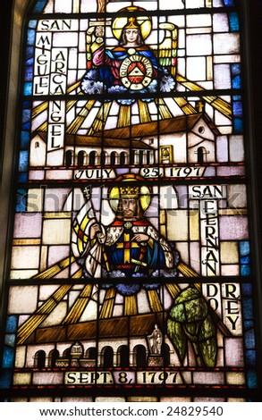 Saint Michael San Fernando Stained Glass Mission Dolores Saint Francis De Assis San Francisco California,