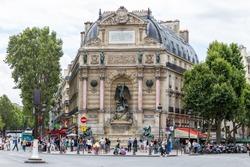 Saint Michel fountain in Paris, France