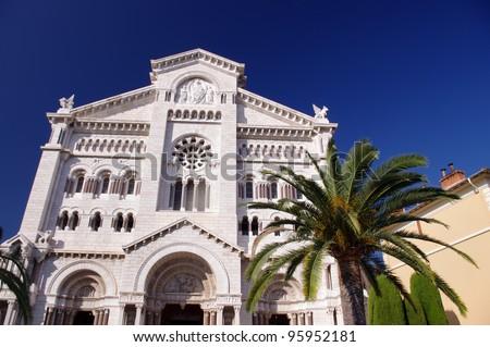 Saint Nicholas Cathedral in Monaco - stock photo