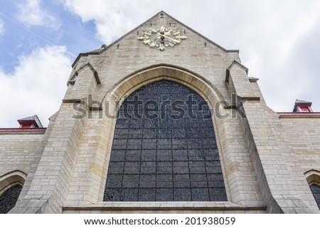 Saint Nicholas Church - one of oldest churches of Brussels. Church was named after Saint Nicholas, patron saint of traders. Entrance to Saint Nicholas church dates from second half of 12th century.