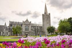 Saint Patrick Cathedral Garden in Dublin, Ireland