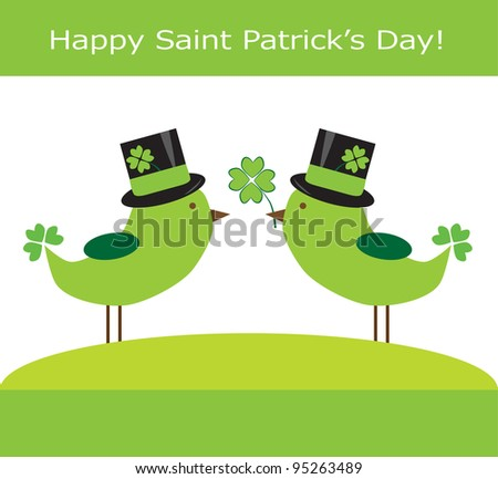 Saint Patrick's Day Birds - stock photo