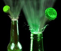 Saint Patrick's day green beer.