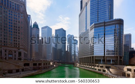 Saint Patrick's Day in Chicago City, Green River,  Illinois, USA