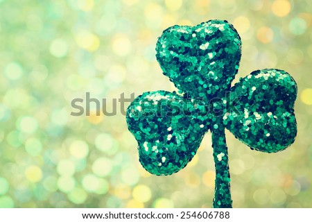 Saint Patrick's Day shiny green clover ornament