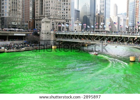 Saint Patrick's Day Tradition of Dyeing the Chicago River Green