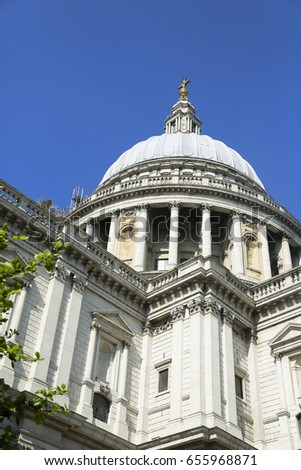 Saint Paul cathedral in London #655968871