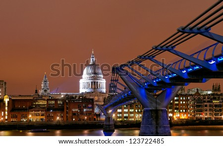Saint Paul's Cathedral at night, London, UK
