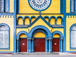 Saint Peter and Paul Cathedral, a wooden Roman Catholic cathedral, Historic Inner City of Paramaribo, UNESCO World Heritage, Suriname, South America
