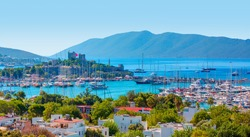 Saint Peter Castle (Bodrum castle) and marina - Bodrum, Turkey