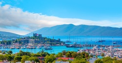 Saint Peter Castle (Bodrum castle) and marina in Bodrum, Turkey