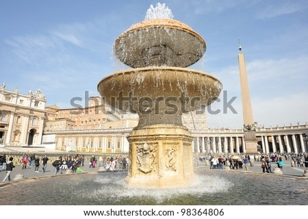 Saint Peter's Square, Rome, Italy