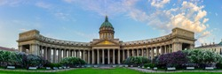 Saint Petersburg. Museums of Russia. Kazan Cathedral. Churches of Russia. Nevsky Prospect in the summer. Architecture of Petersburg. Panorama of St. Petersburg.