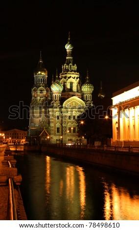 """Saint-Petersburg, Russia, church """"spas na krovi"""""""