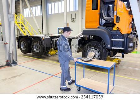 Saint-Petersburg, RUSSIA -  Dec 13 2012 MAN Truck & Bus Production RUS on Dec 13 2012 in Saint-Petersburg, Russia.