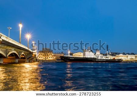 Saint-Petersburg.Russia. 03 may 2015. Icebreaker \