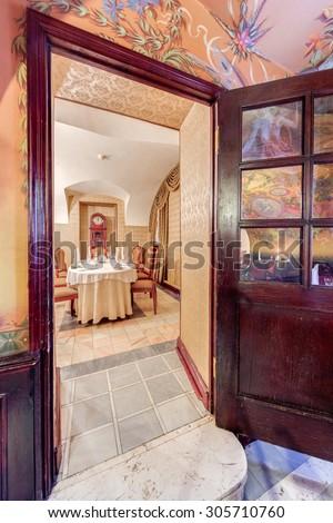 Saint Petersburg, Russia - October 3 2014. \The interior of the restaurant of Russian cuisine \