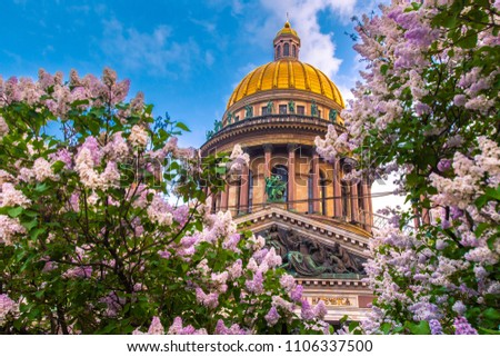 Saint Petersburg. St. Isaac's Square. Russia. White nights in Petersburg. Saint Isaac's Cathedral. Summer in St. Petersburg. City of Russia.