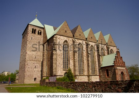 Saint Petri Church in Magdeburg, Germany