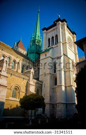 Saint-Pierre Cathedral in Geneva, Switzerland.