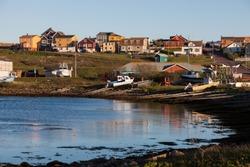 Saint Pierre - colorful panorama. Saint Pierre, Saint Pierre and Miquelon.