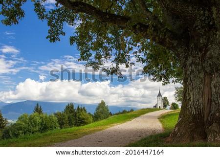 Saint primoz chrch in Jamnik village, Slovenia Zdjęcia stock ©