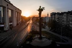 Saint Sofia Statue in downtown Sofia , Bulgaria
