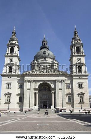 Saint Stephen's Basilica in Budapest - Hungary - stock photo