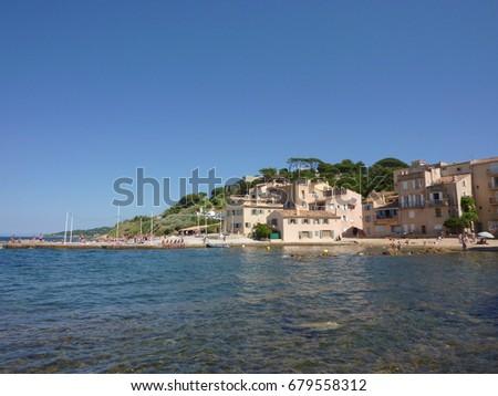 Saint Tropez Beach Cote Dazur Riviera France Ez Canvas