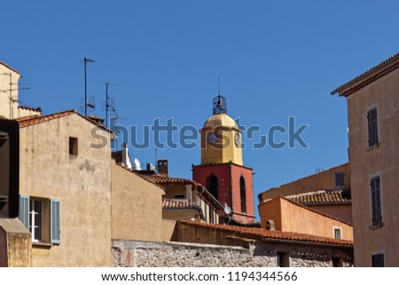 Saint-Tropez church bell tower - French riviera, France