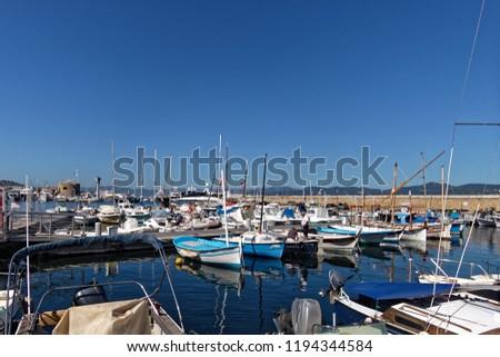 Saint-Tropez fishermen Harbour - French Riviera, France #1194344584